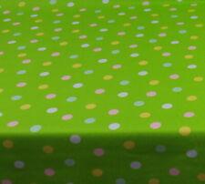 Baumwolle Tischdecke Meterware abwaschbar, grün mit Punkt 226-2129