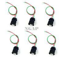 6x FUEL INJECTOR CONNECTORS Fits NISSAN 300ZX 1990-94TT 1990-2NA wiring harness