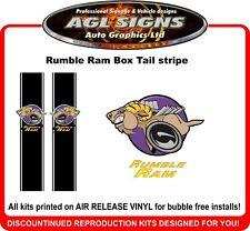 Rumble Ram Custom Box Tail Stripe fits   Dodge Ram