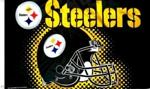 Pittsburgh  Steelers   Rare Flag and Banner Last One Man Cave Must  3' x 5'