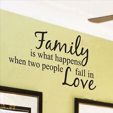 Huhome PVC Wall Stickers Wallpaper Family love poems in English letters living