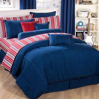 Blue Denim Bedding Set Karin Maki American Denim Comforter Shams Skirt Curtains