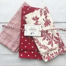 NWT Felicity Red Napkin Set of Eight