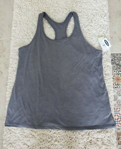 NWT Old Navy Women's Size XL Active Go Dry Tank Top Racerback Workout, Gray