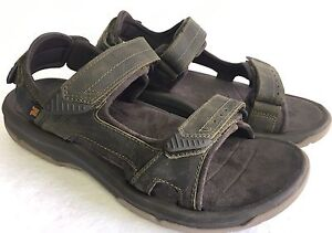 TEVA LANGDON OLIVE LEATHER UPPER ACTIVE CASUAL SANDALS MEN`S SIZES 1015149 NEW
