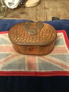 Small Oval Copper Tin Vintage
