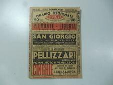 Orario regionale delle ferrovie italiane F.lli Pozzo Piemonte-Liguria