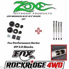 """Zone Jeep Wrangler JK JKU 2"""" Coil Spacer Lift W/ Fox Performance IFP 2.0 Shocks"""