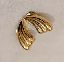 Vintage 9c5 375 9k Clip On Earrings Scroll Style