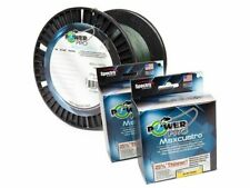 Power Pro Maxcuatro Microfilament Braided Line 150, 300, 1500yd (Moss/Hi-Vis)
