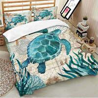 2/3PCS Bedding Set Sea Turtle Animal Printing Design 2/3pcs Duvet Cover Set