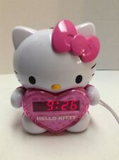 HELLO KITTY AM/FM Projection Alarm Clock Radio KT2064