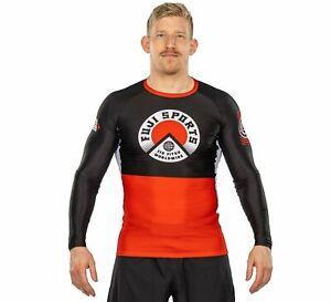 Fuji Heritage MMA BJJ Jiu Jitsu LongSleeve Long Sleeve LS Rashguard - Black