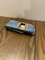 "Vintage 5 1/2"" Tin Friction Mercedes Benz Convertible Toy Car Japan"