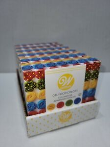 New Lot of 6 boxes Wilton Gel Food Primary Colors Set YELLOW, RED, GREEN, BLUE