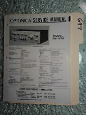 Optonica Sharp sm-1414 service manual original repair book stereo amp amplifier