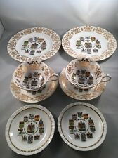 Vintage Paragon Bone China Canada Coats of Arms & Emblems - 8 Pieces Perfect