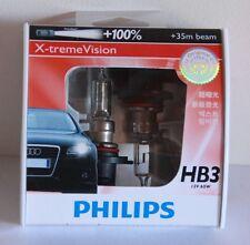 A Pair of Genuine Philips 9005 HB3 12V 65W +100% X-treme Vision Bulbs