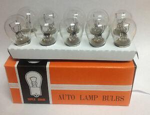 Box of 10 #1662 24V TAIL LIGHT REAR BRAKE STOP TURN SIGNAL LAMPS BULBS