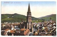 AK, Freiburg i. B., Teilansicht mit Schlossberg, 1933