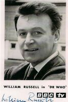 WILLIAM RUSSELL DR WHO IAN SIGNED AUTOGRAPH 6x4 PRE PRINTED PHOTO POSTCARD SIZE