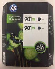 HP Genuine 901XL Black Ink Cartridges EXP 05/2019 Twin-Pack