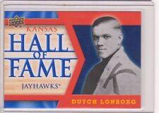 2013 Upper Deck Kansas Jayhawk Hall of Fame #HOF13 Dutch Lonborg SP Mint KU