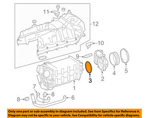 MERCEDES OEM 12-17 S550 Throttle Body-Gasket 2721412680
