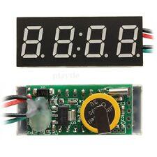 """0.4"""" Digital LED Clock 12V/24V 24-hour Time 4-digit Display Watch Car DC 7-30V"""