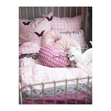 Twin Girls Duvet Cover Quilt Cover 2pc set IKEA Mystisk Adorable Pink White New