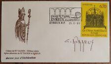Claude DURRENS Chasse Saint Taurin Evreux 1995 signature autographe cachet oblit