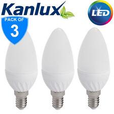 3x Kanlux 4.5W SMD LED 35W Equivalent SES E14 Opal Candle Light Bulb Warm White