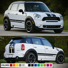 Decal Sticker Stripe Kit For Mini Countryman Cooper S Racing Hood Side Trunk JCW