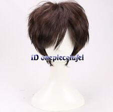 Dipper Hombres Muchachos corto marrón Peluca Cosplay + un casquillo de la peluca