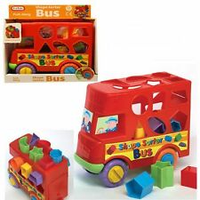 Funtime Bus Shape Sorter Sorting Fun Push Along Activity Toy