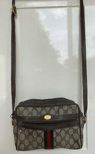 Authentic GUCCI crossbody bag shoulder strap Vintage 80' model With Original Box