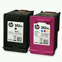 BLACK & COLOUR INK CARTRIDGE REFILLED COMPATIBLE WITH HP 302XL HP 302 XL VERSION