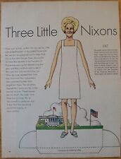 Three Little Nixons Paper Dolls From May 1970 Life Magazine