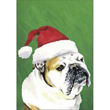 Bulldog Christmas Flag