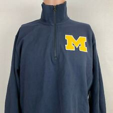 Michigan Wolverines Embroidered Pullover Sweatshirt NCAA College 47 Brand Size L