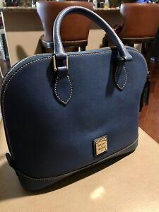 NWT Dooney And Bourke Saffiano Leather Zip Zip Satchel, Retail $228