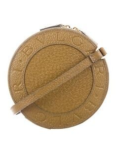 New BVLGARI Light Brown Leather Crossbady BEE ZERO MINI ANGEL CLIFF Handbag