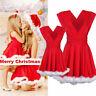 Women Xmas Santa Kids Girls Gifts Ladies Christmas Costume Skater Swing Dress