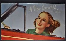1938 Studebaker President & Commander Convertible Brochure Excellent Original 38