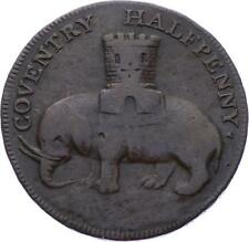 O2330 UK Warwickshire 1792 Coventry Lady Godiva Halfpenny Elephant ->Make offer