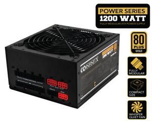 InfinitX ATX 1200W 80+ Gold Gaming Mining PC Power Supply Modular 1200 Watt USA