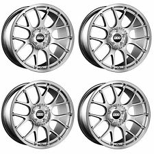 4 x BBS CH-R Brilliant Silver/Stainless Rim Alloy Wheels - 5x120 | 18x8 "