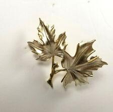 Vintage Maple Leaf 🍁 Pin Brooch Silver Gold Tone