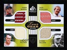 New listing 2012 SP Game Used Edition Quads Shirts Tiger Woods Jack Nicklaus Palmer Nelson