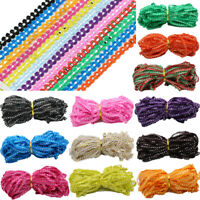 15 Yards 8MM Trim Sewing Lace Gold Centipede Braided Ribbon Chains Zag Rik Rak